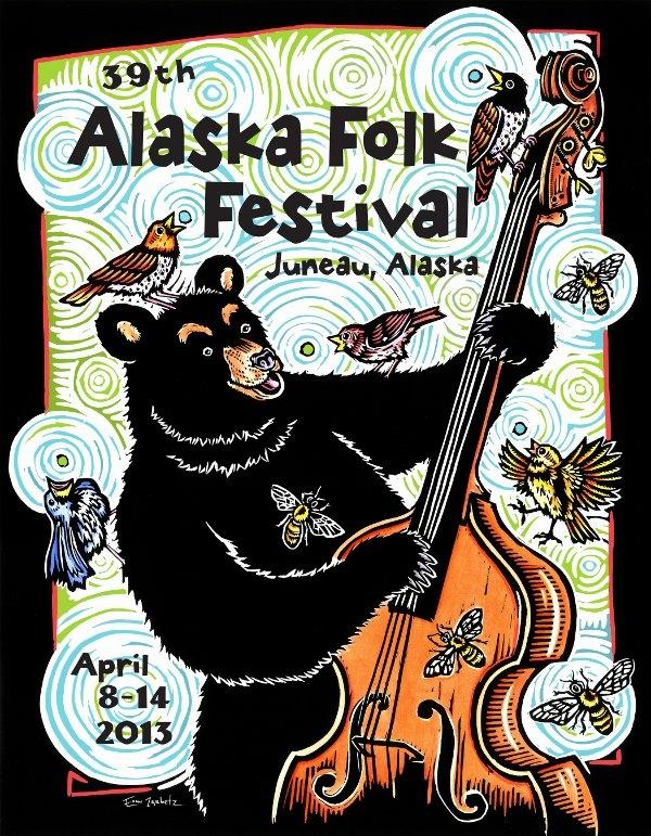 Alaska Folk Festival Poster - Photo by: www.akfolkfest.org