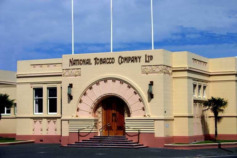 Napier New Zealand - National Tobacco Company - Art Deco building - Photo by: Seriousfun