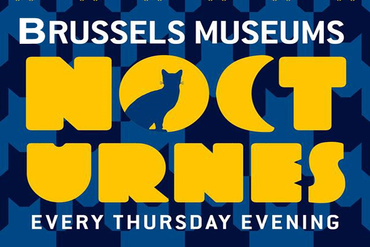 Brussels Museums Nocturnes Logo - Photo by: www.brusselsmuseumsnocturnes.be