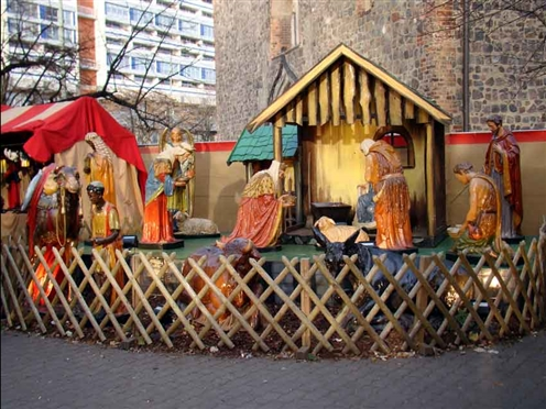 Christmas market - Nativity play