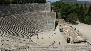 The ancient amphitheater in Epidaurus Greece