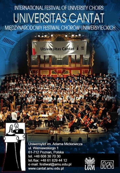 International Festival of University Choirs, Poznań, Poland - Photo courtesy of: Festival of the University Choirs  [www.cantat.amu.edu.pl]