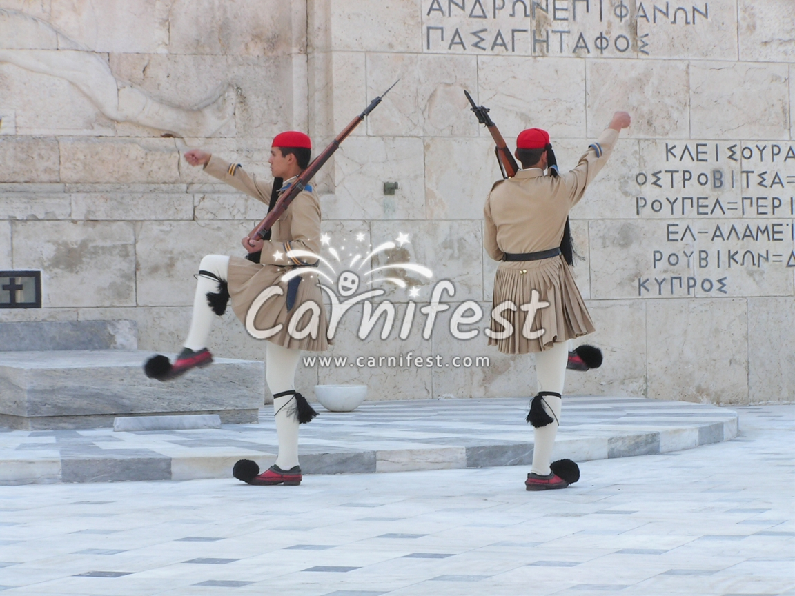Soldiers guard at the Parliament Building in Athens - CarniFest Online © All Rights Reserved
