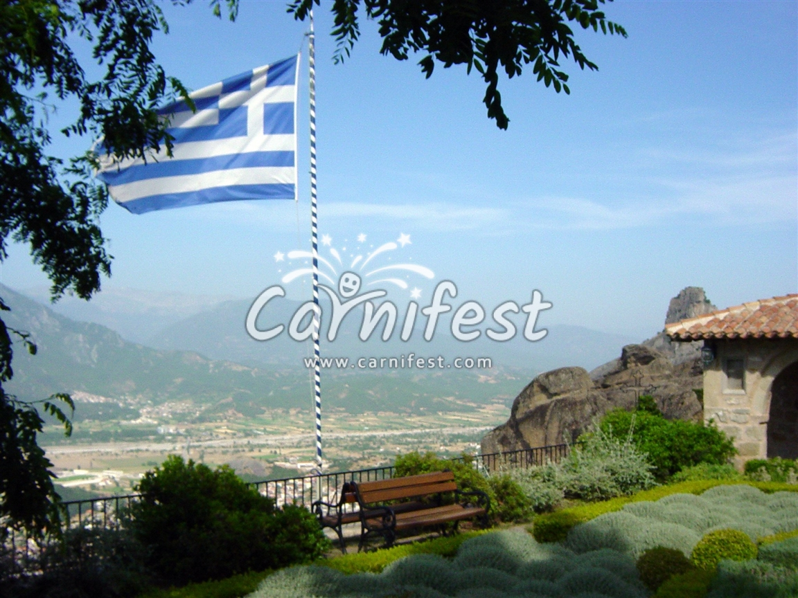 Kalabaka view (from Meteora) - CarniFest Online © All Rights Reserved