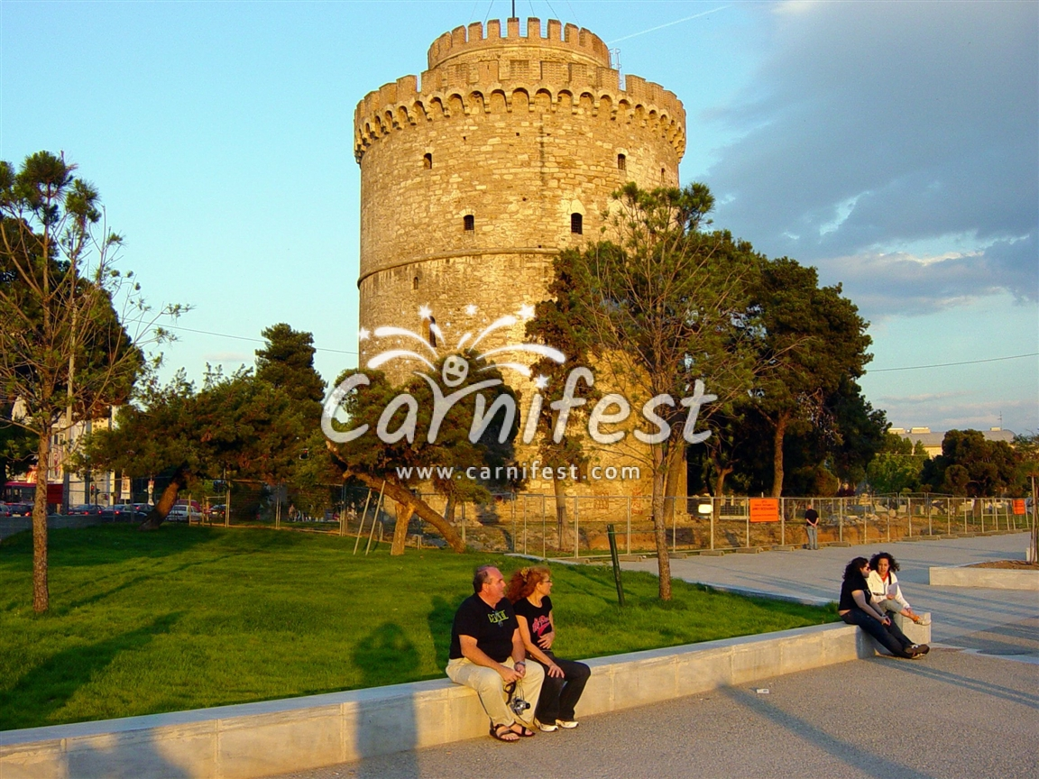 Greece, the white tower in Thessaloniki - Photo by CarniFest Online © All Rights Reserved