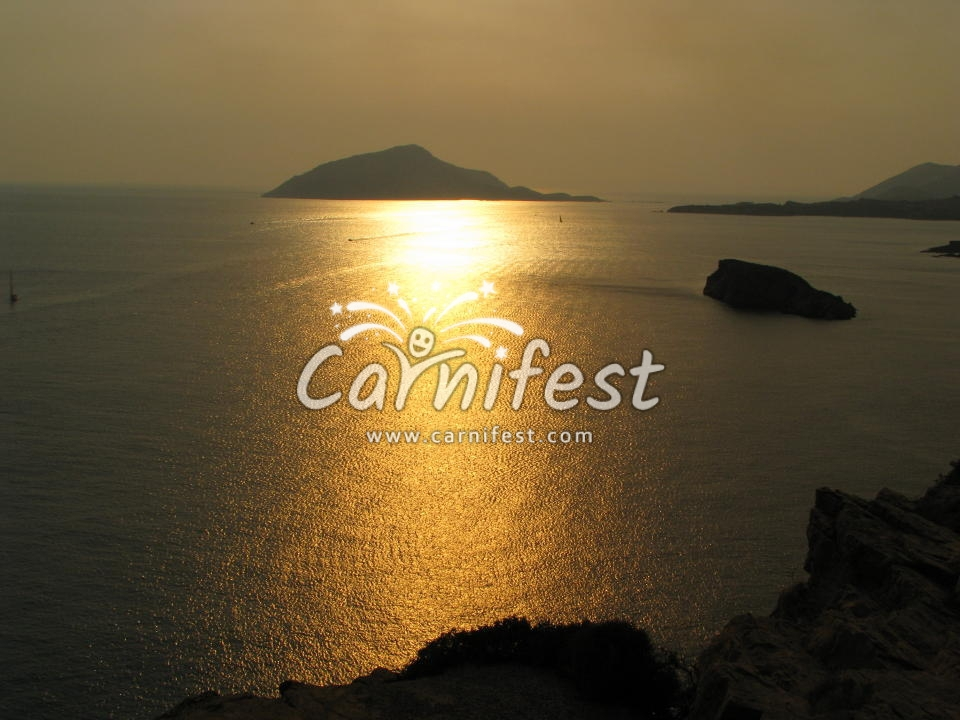 Greece cape sounio sunset - CarniFest Online © All Rights Reserved