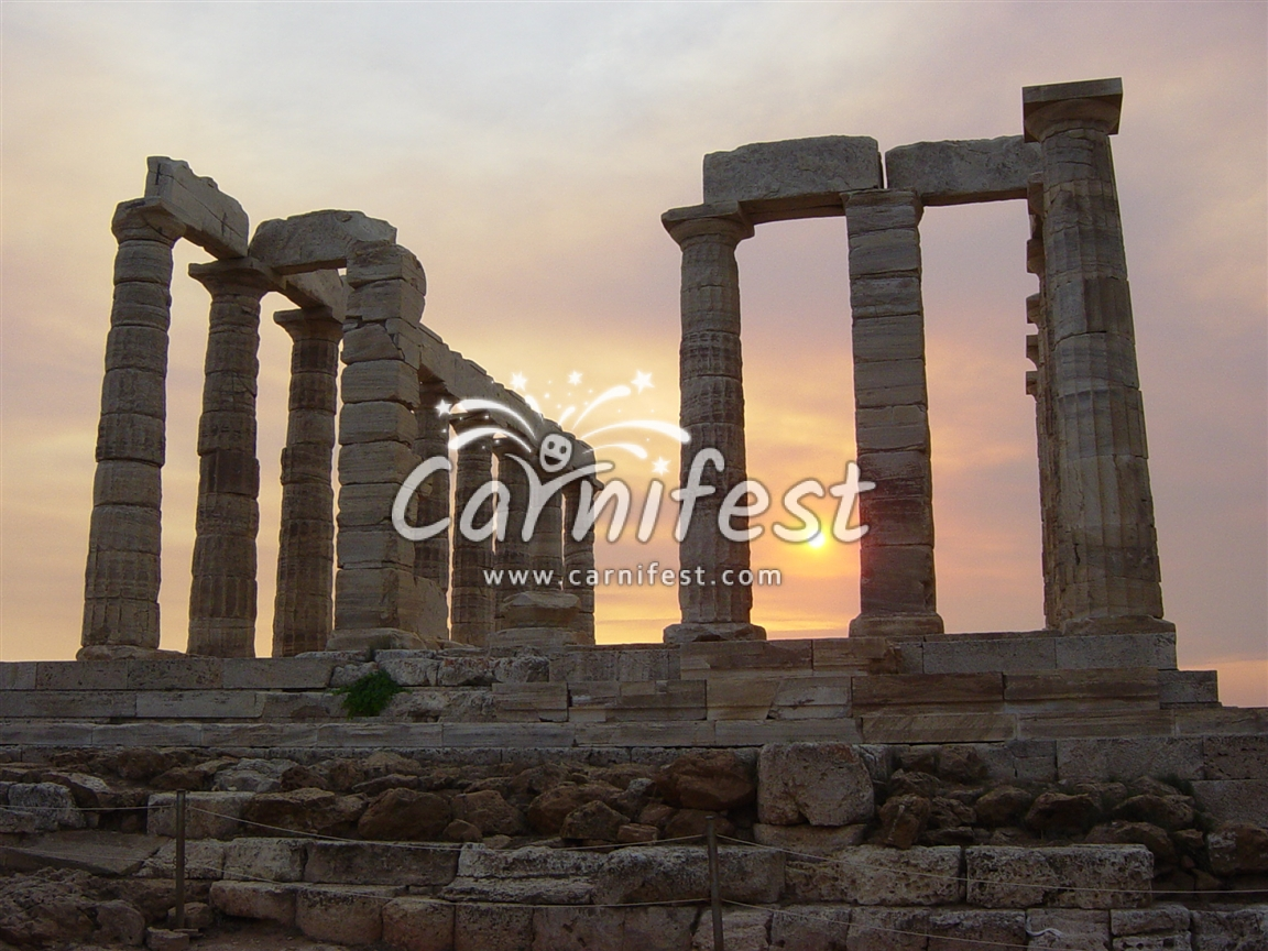 Cape Sounion Posedon temple - CarniFest Online © All Rights Reserved