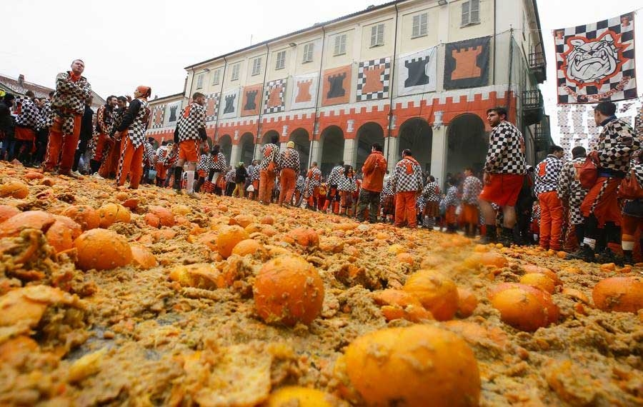 Historical Carneval of Ivrea - Photo by: www.storicocarnevaleivrea.it