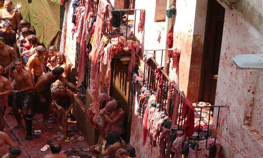La Tomatina, Buñol - Spain - Photo: Mati Sánchez [via-pixabay.com]