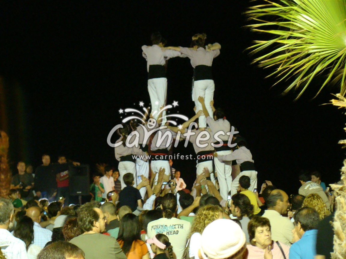 Castellers – the human towers in Barcelona - CarniFest Online Photo © All Rights Reserved
