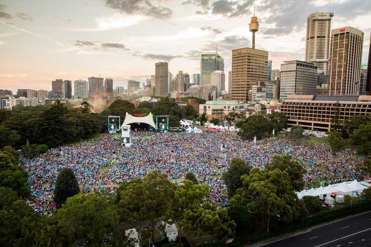 Sydney Festival, Summer Sounds in the Domain - Photo by: Daniel Boud