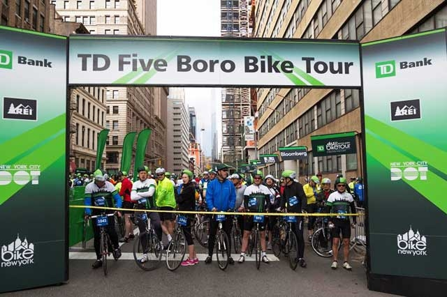 TD New York  Five Boro Bike Tour - Photo: www.bikenewyork.org / Kfriedman