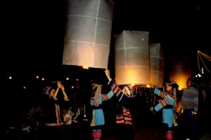Thai flying lanterns - CarniFest Online Photo © All Rights Reserved