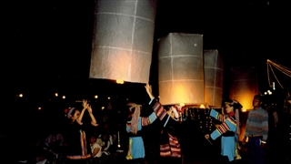 Thai flying lanterns