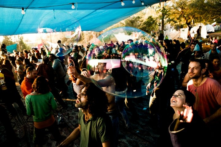 The Galactic Rrave Music Dance - Photo courtesy of: Desert Ashram