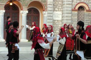Traditional Greek dance in Kalavarita, Greece - CarniFest Online Photo © All Rights Reserved