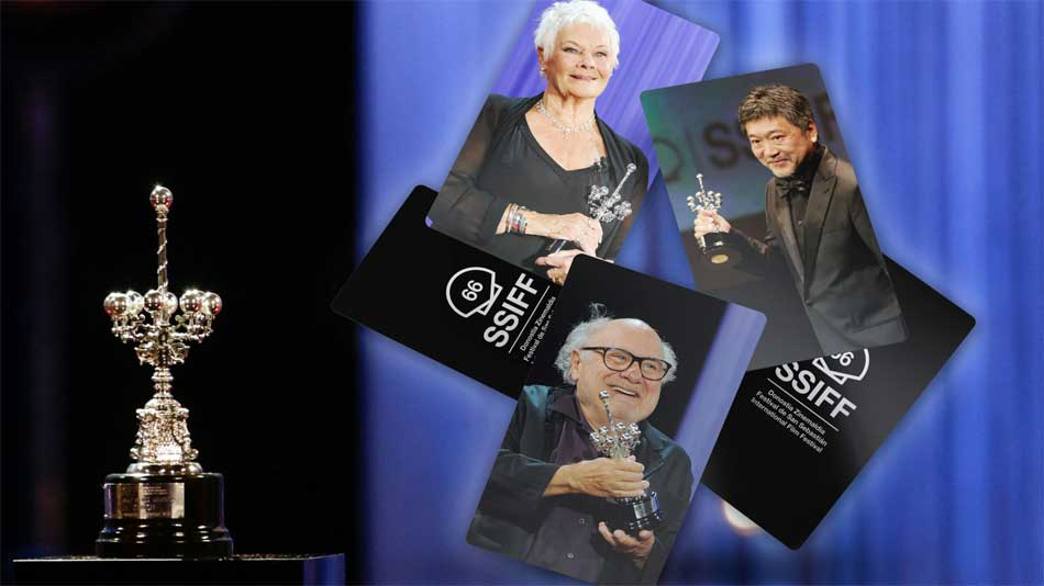 2018 Donostia Awards: Judi Dench, Hirokazu Korreda and Danny DeVito - Photo: www.sansebastianfestival.com